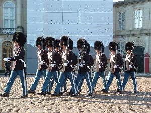 Changing of the Guard at Denmark's Royal Palace